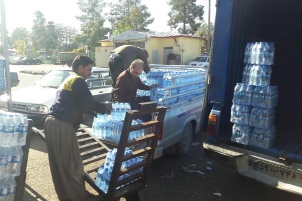 ارسال آب تصفیه شده از همدان به مناطق زلزله زده