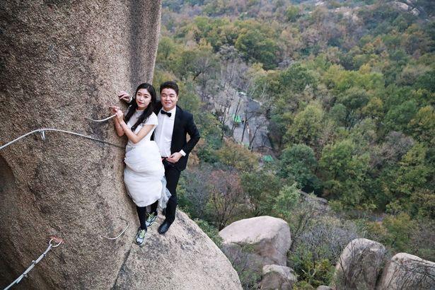 ازدواج عجیب زوج کوهنورد+تصاویر