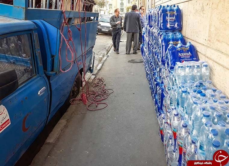 کمکهای مردم تهران به زلزلهزدگان کرمانشاه +تصاویر