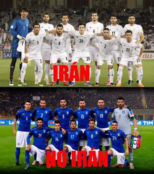 کنایه به ایتالیاییها با استفاده از نام ایران + تصویر