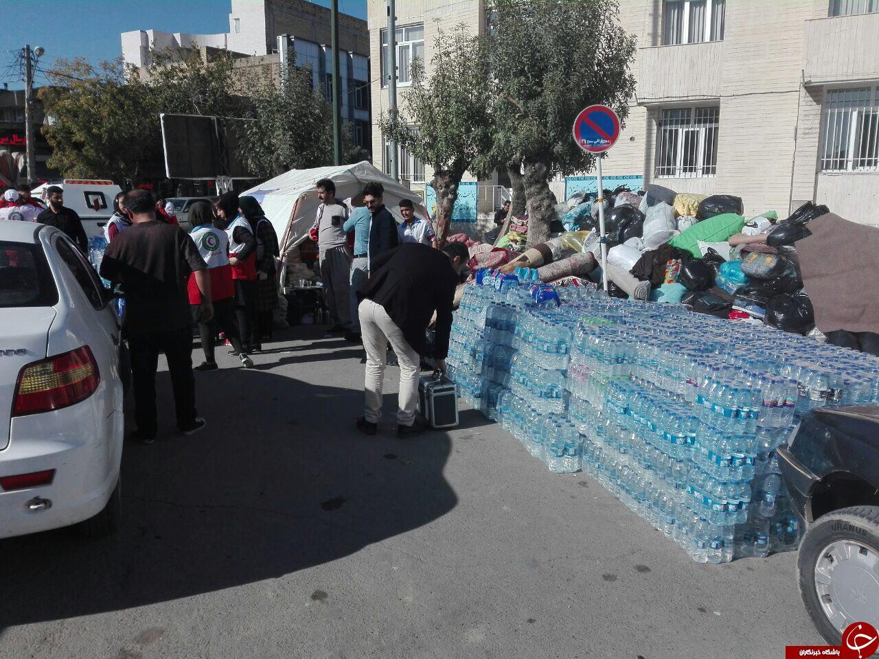 کمکهای مردمی شهروندان بوکانی به زلزلهزدگان + تصاویر