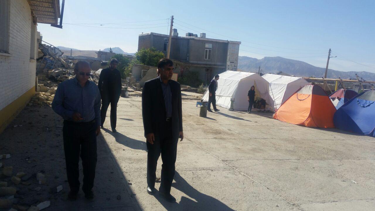 بازدید معاون راهداری کشور از مناطق زلزله زده