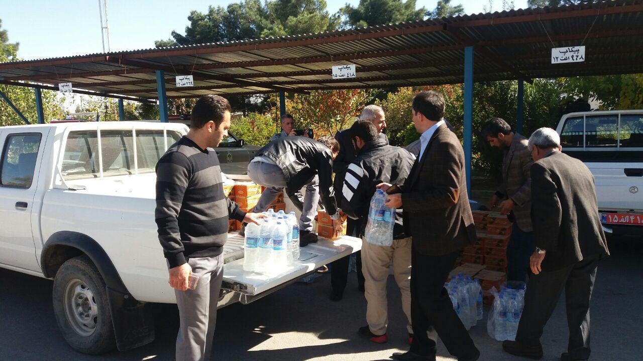 تهیه اقلام مورد نیاز زلزله زدگان توسط اداره منابع طبیعی