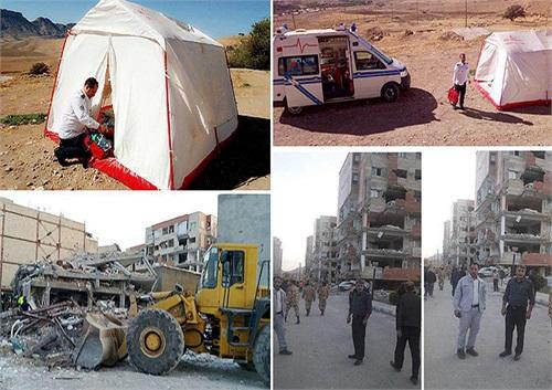 امدادرسانی منطقه غرب خطوط لوله و مخابرات به زلزلهزدگان کرمانشاه