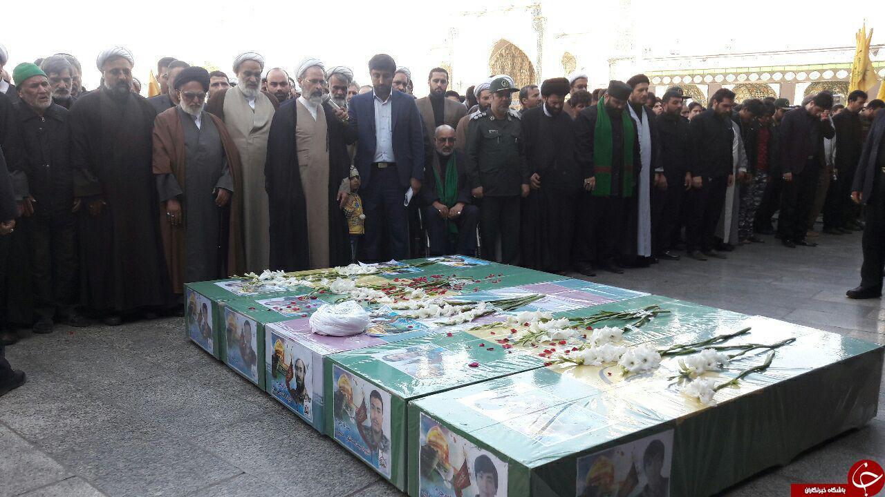 پیکر مطهر پنج شهید مدافع حرم حضرت زینب(س)تشییع شد