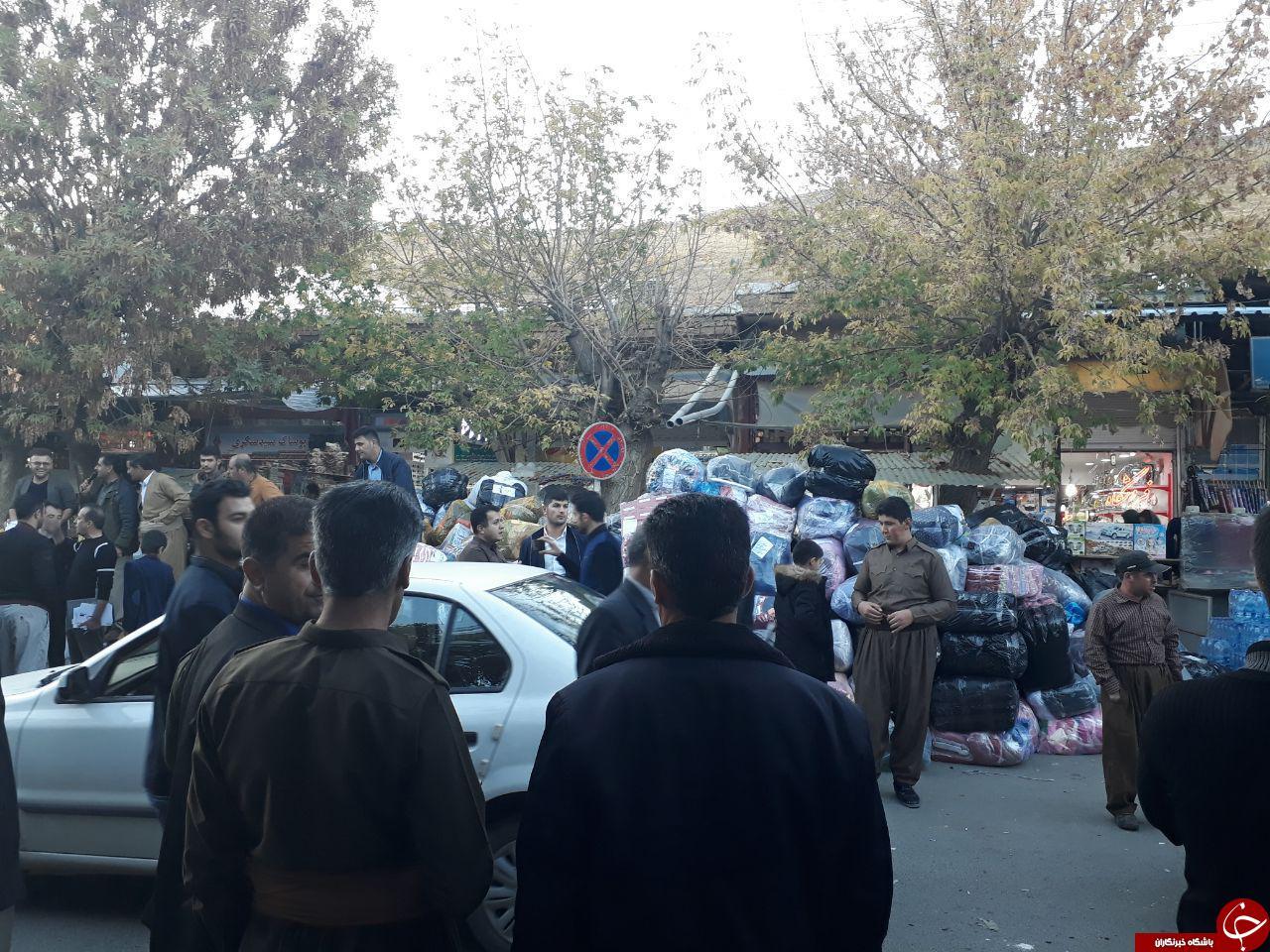 پایگاه جمعآوری کمکهای مردمی پیرانشهر برای زلزلهزدگان + تصاویر