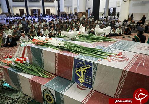 مراسم وداع با شهدای دفاع مقدس در حرم مطهر شاهچراغ(ع)