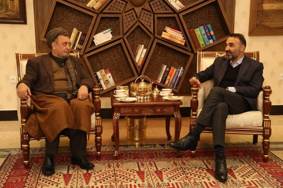 دیدار اعضای ارشد ائتلاف نجات افغانستان پیش از ورود جنرال دوستم به کشور