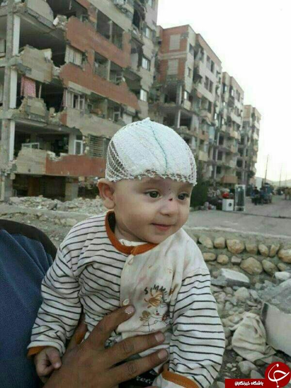 زنده ماندن حیرتانگیز یک نوزاد 3 روز پس از زلزله کرمانشاه + تصویر