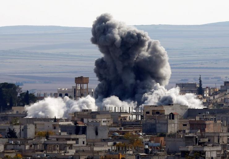 بمباران سنگین داعش در غوطه شرقی دمشق+ فیلم