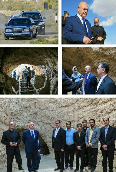 بازدید سرکنسول سفارت ترکیه از قنات قصبه گناباد