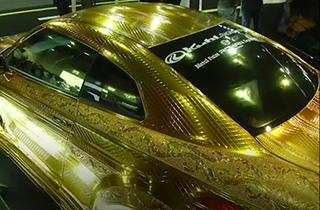 خودروی یک میلیون دلاری با روکش طلا + ویدئو