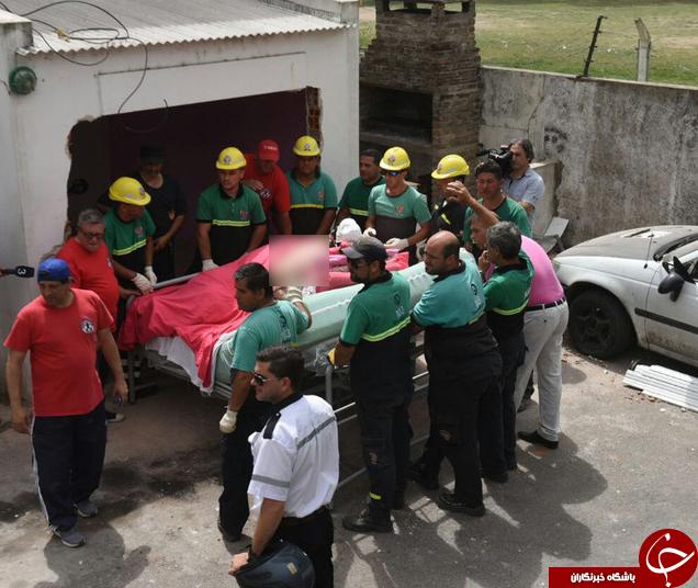 شیوه عجیب انتقال زن نیم تُنی از خانه به بیمارستان+تصاویر