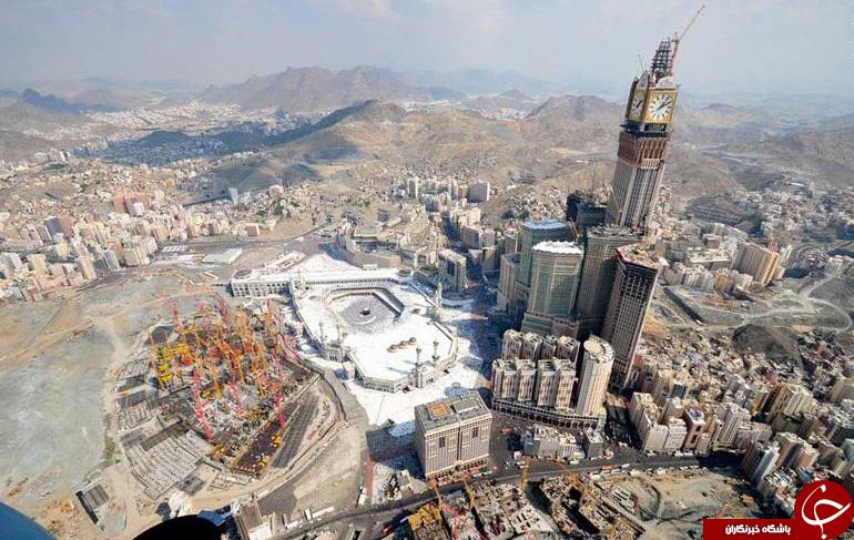 آل سعود مشغول کار است: از فروش زمینهای اطراف حرم مکی به خارجیها تا مسقف کردن خانه خدا +تصاویر