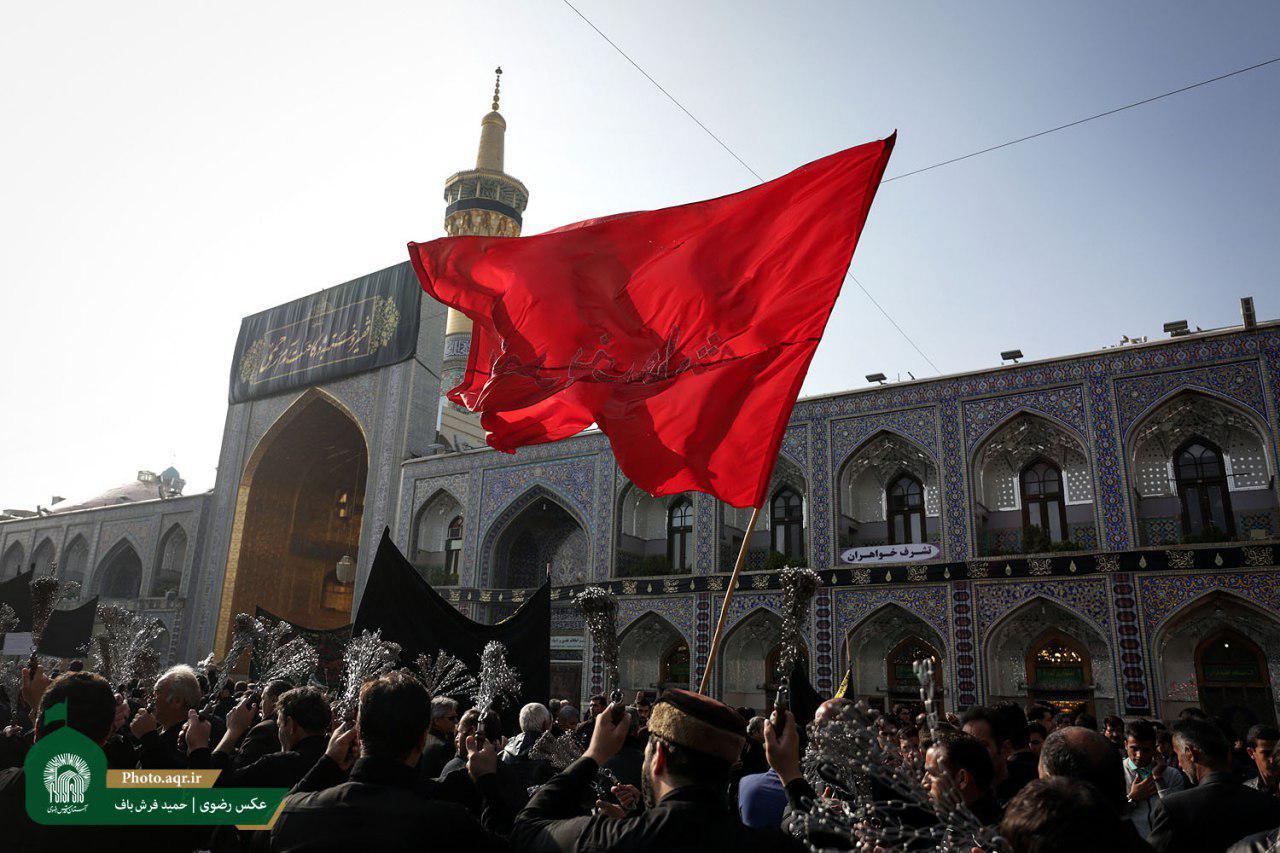 اماکن متبرکه رضوی با 6 هزار مترمربع کتیبه و پرچم سیاه پوش شد