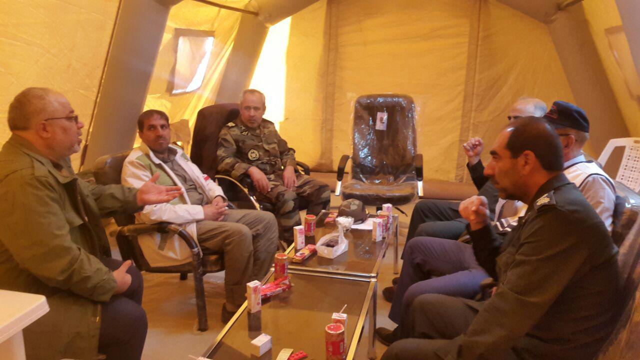 جلسه مشترک سپاه و ارتش برای بهبود روند کمکرسانی