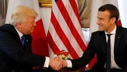 توافق ترامپ و مکرون برای مقابله با اقدامات ایران در منطقه