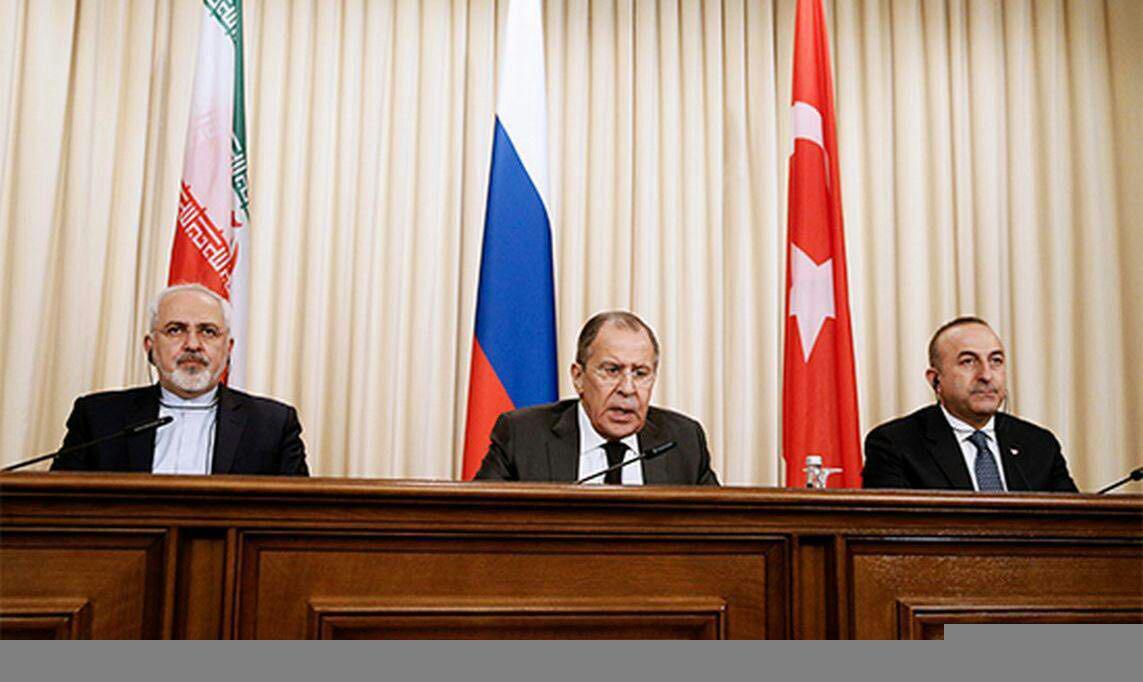 نشست سه جانبه وزرای ایران، روسیه و ترکیه آغاز شد