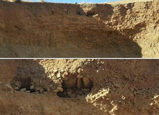 کشف قبرهای هزارو ۸۰۰ ساله در تفرش + عکس
