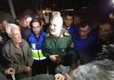 باشگاه خبرنگاران -دیدار سردار عبداللهی فرمانده قرارگاه خاتم الانبیا با مردم زلزله زده +فیلم