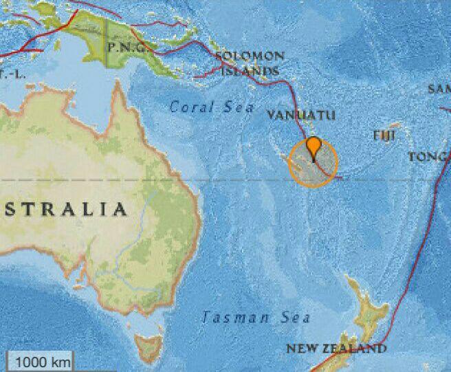 زلزله هفت و دو دهم ریشتری شرق استرالیا را لرزاند