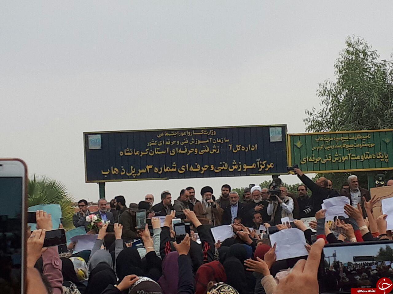 نخستین تصویر از حضور رهبر انقلاب در مناطق زلزله زده کرمانشاه