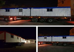 ارسال ۸ دستگاه کانکس برای زلزله زدگان کرمانشاه