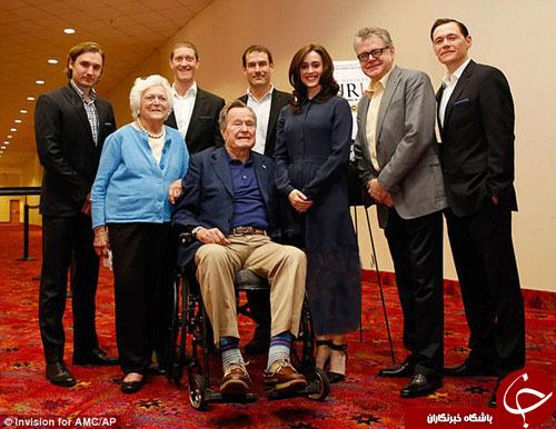 معذرت خواهی جرج بوش پدر بابت آزار جنسی یک بازیگر از روی ویلچر!+ عکس