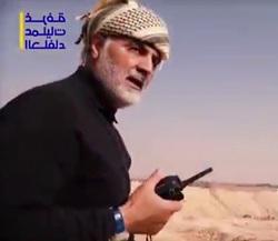 حاج قاسم سلیمانی در حال فرماندهی عملیات بوکمال + فیلم