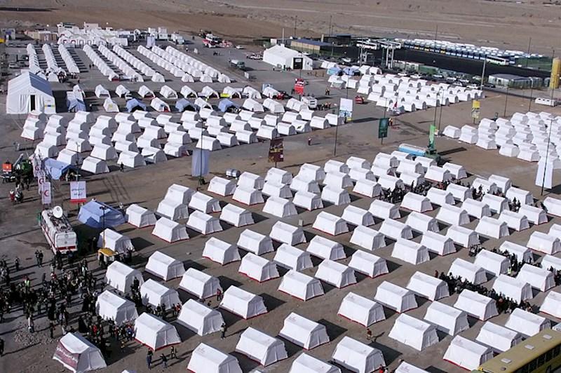 ایجاد اردوگاه در شهر مهران