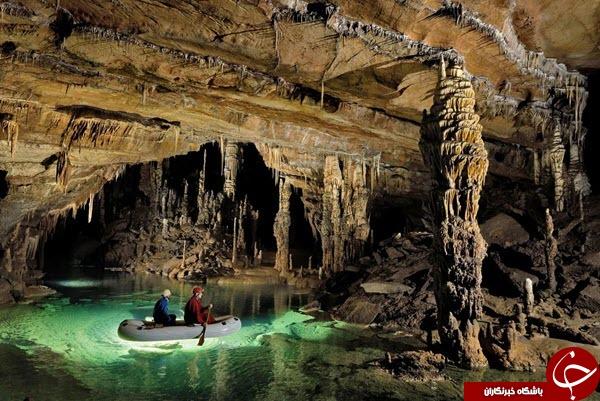 تصاویر دیدنی از  زیباترین غار  زیرزمینی دنیا