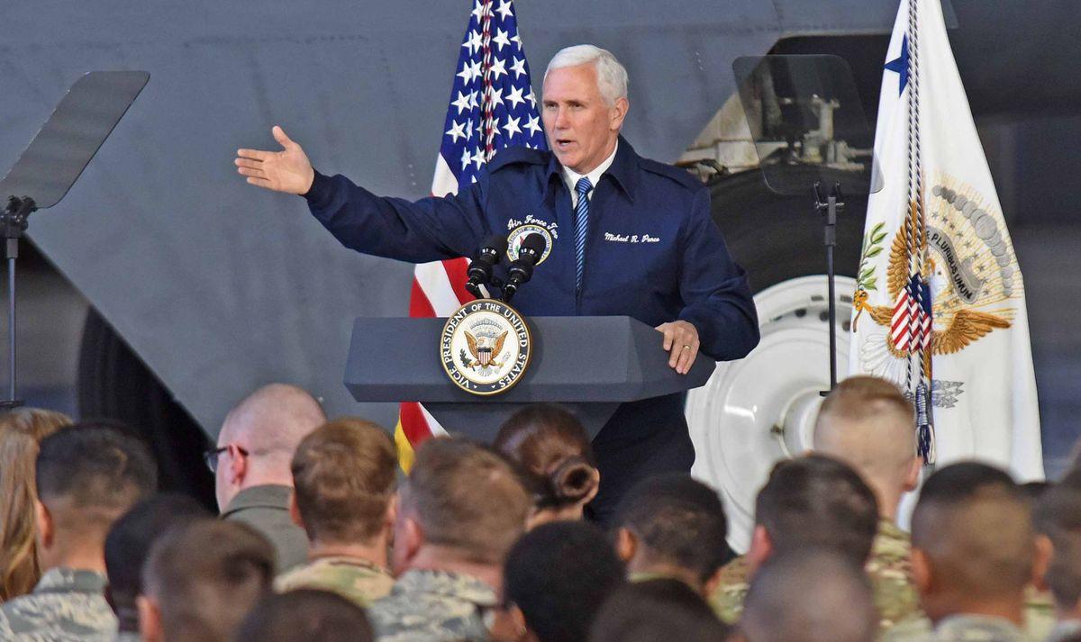 پنس: نیرویی بزرگتر از زرادخانه هستهای آمریکا برای برقراری صلح در جهان وجود ندارد!