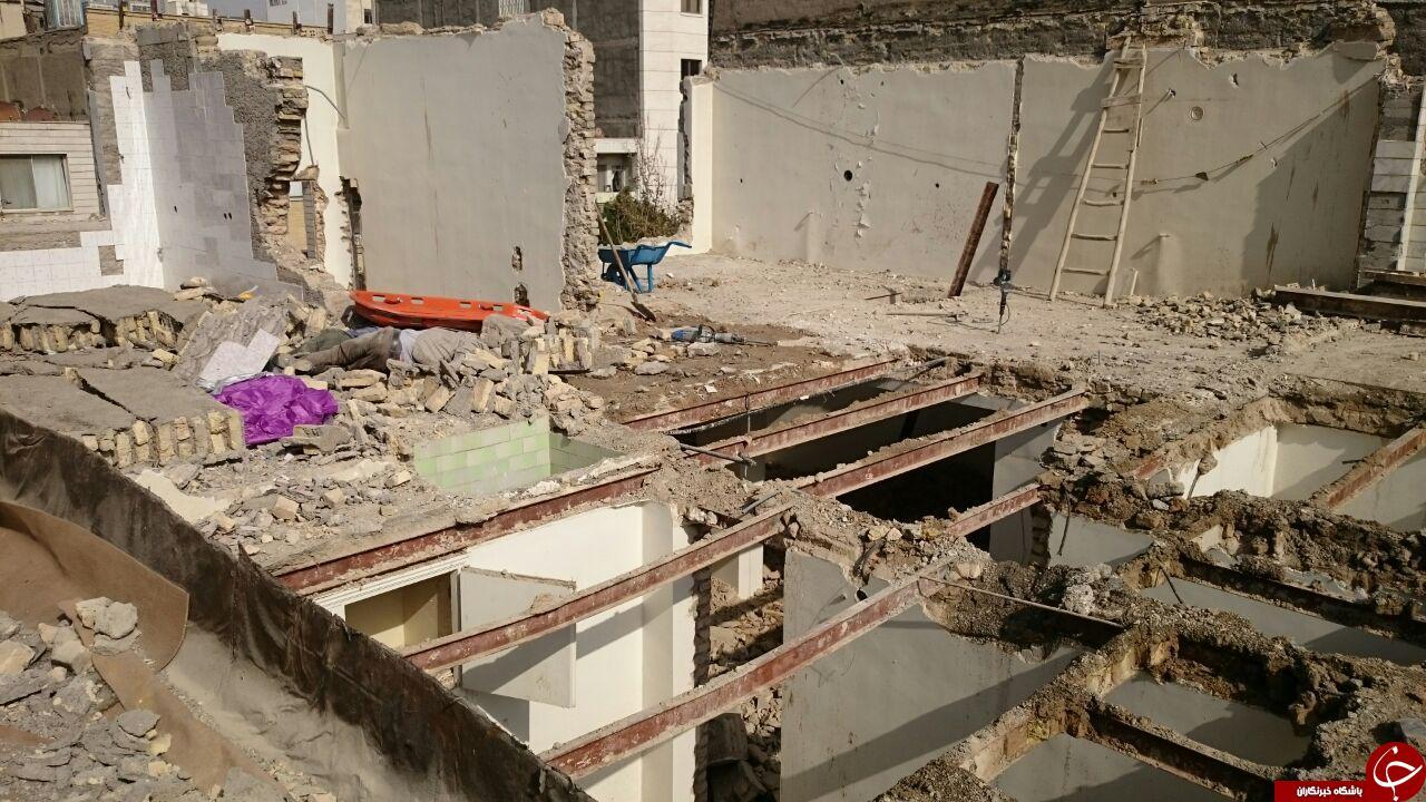 ریزش واحد مسکونی در مشهد ۳ کشته و مجروح برجای گذاشت+تصاویر