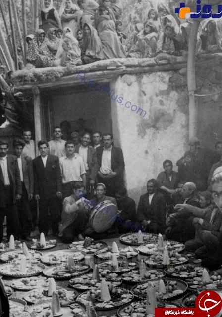 عکسی نایاب از یک جشن عروسی در دههٔ 30