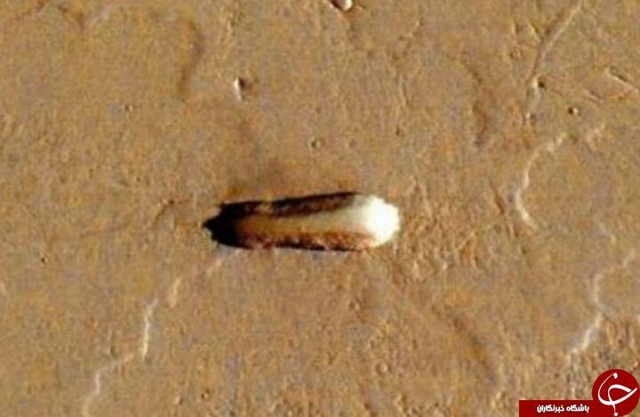 کشف شی مرموز سقوط کرده روی مریخ + تصاویر