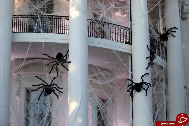 تزئین وحشتناک کاخ سفید به مناسبت هالووین! + تصاویر