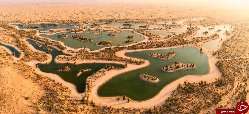 دریاچه ای میان کویر در عکس روز نشنال جئوگرافیک