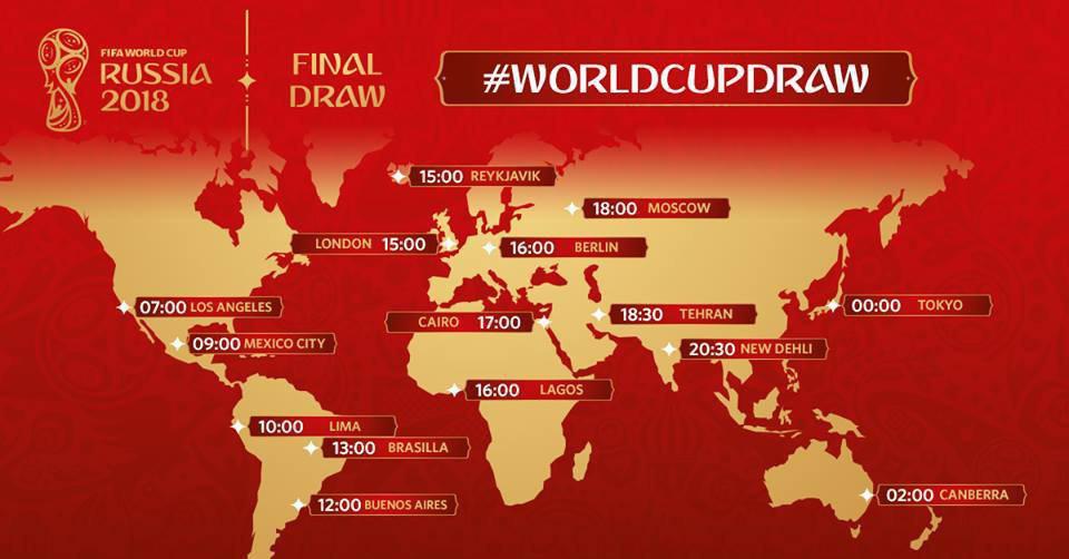 لحظه به لحظه با قرعه کشی جام جهانی روسیه 2018+ تصاویر