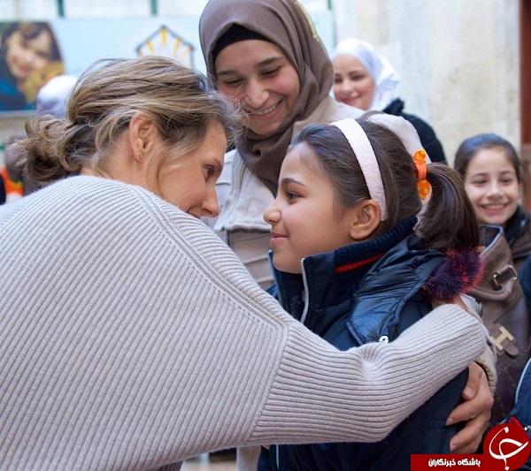 دیدار بانوی اول سوریه از کودکان دمشق