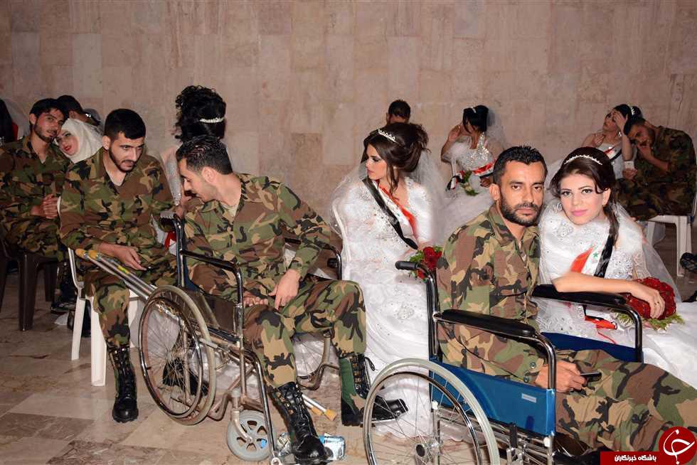 تصاویری از جشن گروهی ازدواج سربازان سوری در لاذقیه+تصاویر