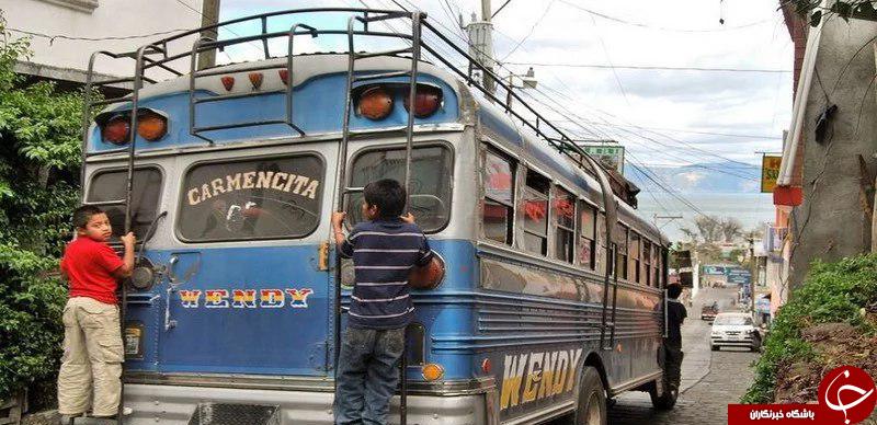 تصاویری جالب از اتوبوسهای متفاوت گواتمالا