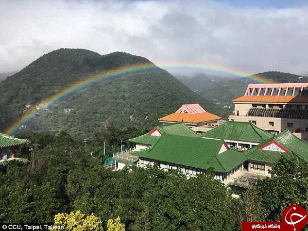 ماندگارترین رنگین کمان جهان در آسمان تایوان نقش بست+ تصاویر