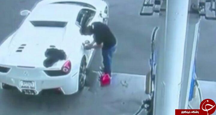 سارق ماشین فراری، حین گدایی به دام پلیس افتاد + فیلم/////////////////////