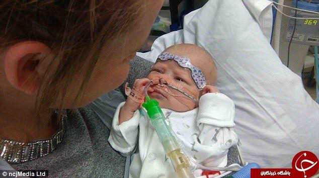پیوند قلب به نوزادی که با نیمی از یک قلب کامل به دنیا آمده+تصاویر
