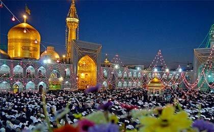 مشهدالرضا میعادگاه دلدادگان رسول مکرم اسلام