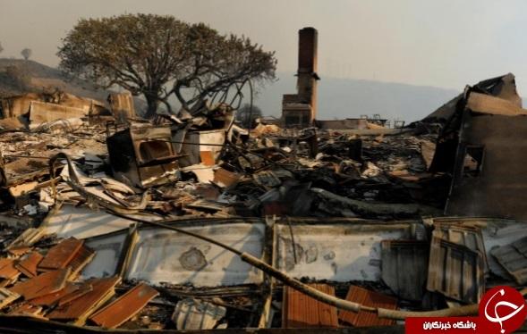 آتش سوزی گسترده در کالیفرنیا صدها خانه را ویران کرد+ تصاویر