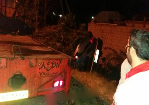 سانحه رانندگی با ۴ مصدوم در مازندران +تصاویر