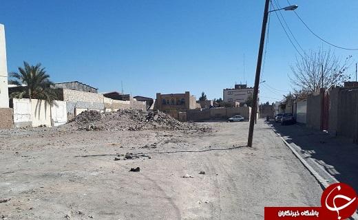 انباشت نخالههای ساختمانی در بلوار فلسطین + تصاویر
