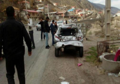 تصادف تریلی در منطقه دوآب سوادکوه با ۱۴ مصدوم +تصاویر