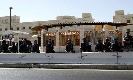 نمایندگان پارلمان اردن در مقابل سفارت آمریکا تحصن کردند